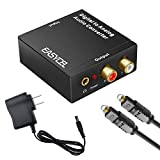 Easycel Audio Digital to Analog Converter DAC with 3.5mm Jack, Optical SPDIF Toslink Coaxial to Analog Stereo L/ R...