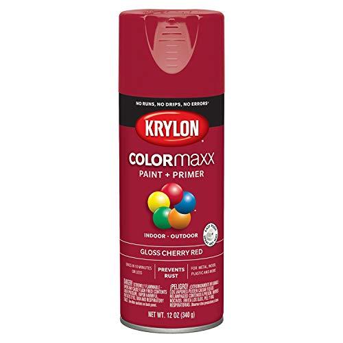 Krylon K05511007 COLORmaxx Spray Paint, Aerosol, Cherry Red