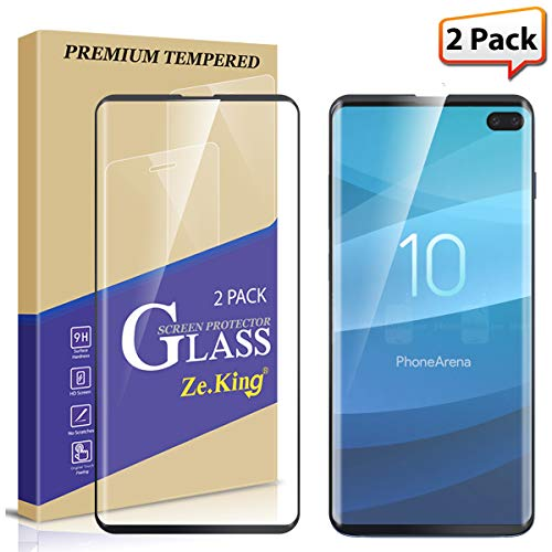 [2-Pack] Galaxy S10 Plus Screen Protector Tempered...