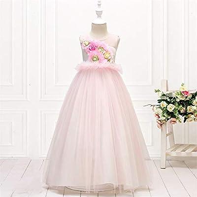 Qz Filles Robe Longue De Mariage Robes Enfants Pour Les Filles Robe Princesse Robe Fille Tutu Enfants Vetements 4 13 Ans Pink 140cm Amazon Fr Cuisine Maison