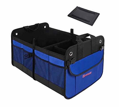 Autoark Ak 022 Premium Multipurpose Car Suv Trunk Organizer   Best Heavy Duty Construction   Great For Car Suv Truck Jeep Minivan Home   Durable Collapsible Cargo Storage   Bottom Velcro Strips