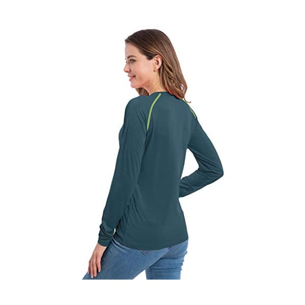 Women's UPF 50+ Sun Protection T-Shirt Long & Short Sleeve Outdoor Quick Dry Fit Athletic Lightweight Top Shirt