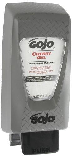 GOJO Cherry Gel Pumice Hand Cleaner, Cherry Fragrance, PRO TDX Starter Kit, 1-2000 mL Hand Cleaner Refill + 1 – GOJO PRO TDX Push Style Dispenser - 7290-D2 by Gojo (Image #1)