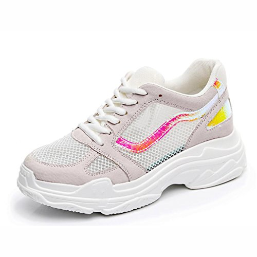 Sommer Casual 37 Atmungsaktive Wild B Frauen Sportschuhe Version Womens Soled Laufschuhe Dick New Farbe der Größe EIN Mesh Sneakers Schuhe Net Koreanische Net pqc5t1F