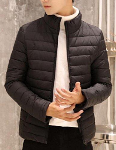 Puffer Giù Outwear Invernali Ricopre uk Oggi Giacca Comprimibile Leggeri Nero Uomini SxTTtqY