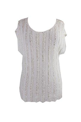 Lauren Ralph Lauren Womens Ornisha Linen Crochet Casual Top White M