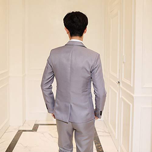3 Ensembles Slim Affaires Fermer Mariage Xfentech amp; Gris Pour Pièces Bouton Fit Blazers Formelle Costumes Hommes Gilets Pantalons XwqnHt