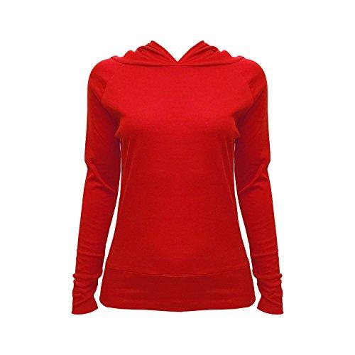LessThanTenQuid - Camiseta de manga larga - Básico - para mujer Rosso