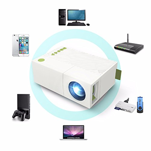 Pocket mini projector elegiant 1080p portable led for Portable projector with usb input