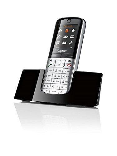 Gigaset SL400H High End Dect-Schnurlostelefon (zusätzliches Mobilteil 4,6cm (1,8 Zoll) TFT-Farbdisplay, USB-Anschluss, Bluetooth) metall / schwarz