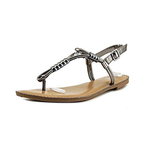 Bar III Womens Vortex Open Toe Casual T-Strap Sandals Pewter 2QaqGws