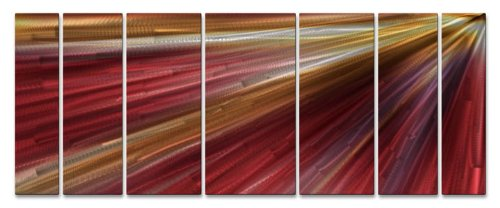UPC 610563139323, In The Light Abstract painting on metal wall art by artist Ash Carl, contemporary home decor, modern wall sculpture