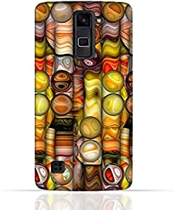 LG Stylus 2 TPU Silicone Case with Abstract Bubble Background