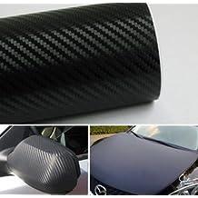 """autvivid Carbon Fiber Film for Car Change Color Roll Wrap (60"""" 19.7"""") 152 50cm Black"""