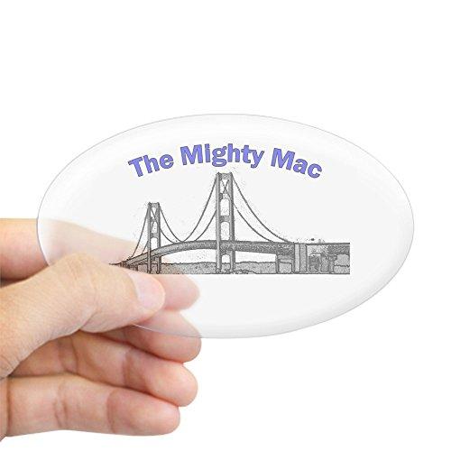 (CafePress The Mighty Mac Oval Sticker Oval Bumper Sticker, Euro Oval Car Decal )