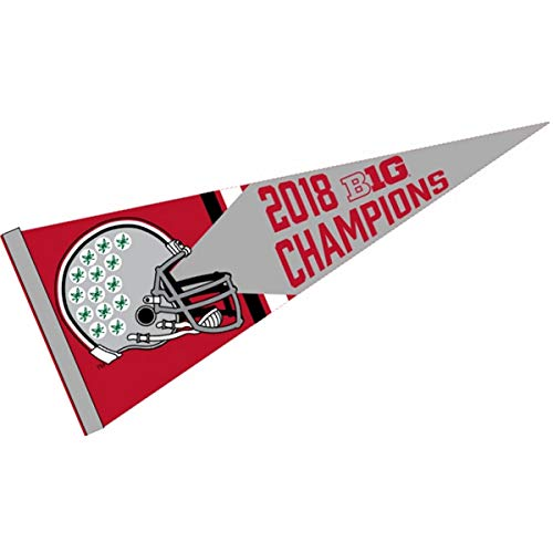 Ohio State Football Pendant - College Flags and Banners Co. Ohio State Buckeyes 2018 Big 10 Football Champions Pennant