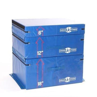Gronk Fitness Soft Plyo Box Set. 6' 12' & 18' - Commercial Grade