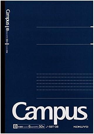 Kokuyo Campus Notebook Dotted Line B5 50 Sheet Navy x 5 Books [NO-5BT-DB]