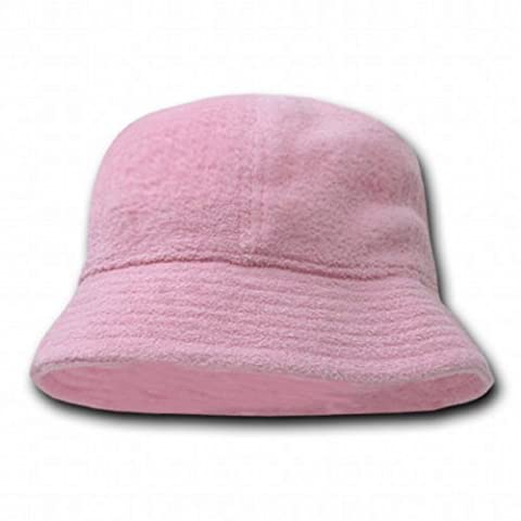 Decky Orgianl Terry Bucket Hats - One Size - Pink - - Boonie Hat Terry Hat