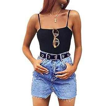 Jean Qiyun En Mode Femme Sexy Jupe Jeans z Féminine nS7qX1S