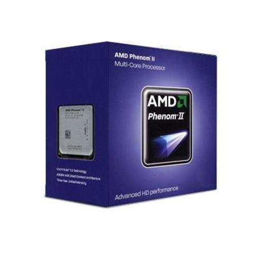 AMD Phenom II X4 840 Edition Deneb 3.2 GHz 4x512 KB L2 Cache Socket AM3 95W Quad-Core Processor - Retail HDX840WFGMBOX (Black)