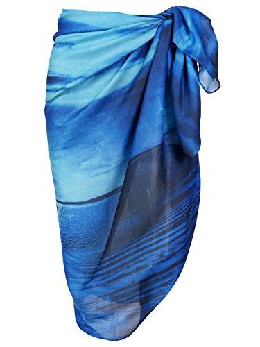 Ayliss Womens Swimwear Chiffon Printed Cover up Beach Sarong Pareo Bikini Swimsuit Wrap,#33