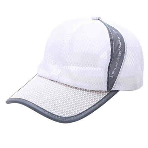 Oksale Men Womens Summer Sport Mess Basball Caps (White)