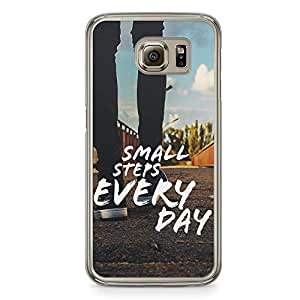 Samsung Galaxy S6 Transparent Edge Phone Case Small Steps Phone Case Motivation Samsung S6 Cover with Transparent Frame