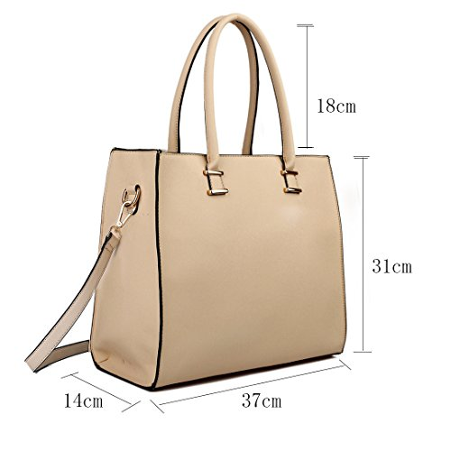 Handbags Bags Handbag Size Women Great Shoulder Tote Plum A4 Large 1509 Miss Lulu fnvAxaqwgg
