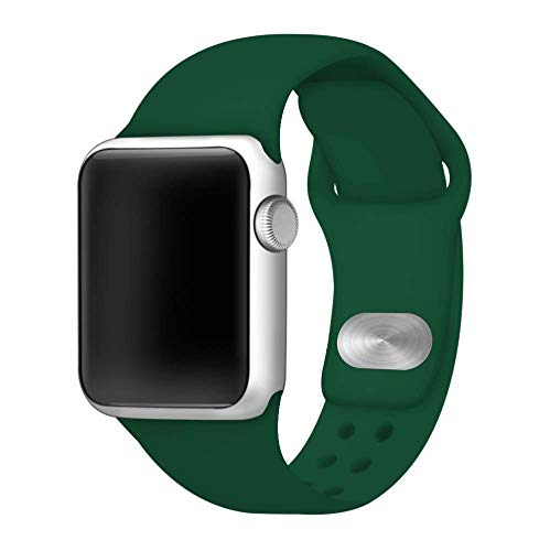 Affinity Bands Green Silicone Sport Band Compatible with Apple Watch - 3 Piece Set S/M & M/L (42mm/44mm)