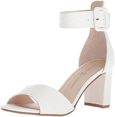 8645652bdfb Chinese Laundry Women's Rumor Heeled Sandal, White Snake, 5 M US ...
