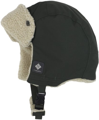 Columbia Men Aviator - Columbia Men's Ridge 2 Run II Earflap Hat (Gravel, Small/Medium)