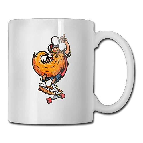 Sakanpo Bearded Skateboard 11oz Tea Cup Coffee Mug]()