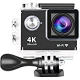 Yuntab Ultra HD 4K Wifi Action Sports Camera 30-Meter Waterproof 1080P 60fps Sport DV H9 2.0 Inch Helmet Camera Cam Camcorder WiFi Remote Control With Charger