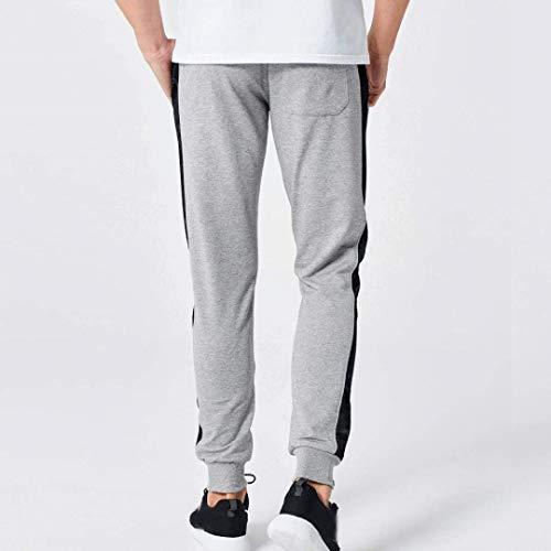 Pants Hombres Slim Sweatpants Pantalones Casuales Sports Otoño Print Grau Primavera Fit Cómodo Moda Floral Battercake WI58cqS4vW