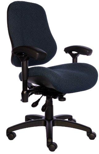 BodyBilt J2504x Blue Fabric XL High Back Task Ergonomic Chair with Arms, 22″ Length x 21.50″ Width Backrest, 26″ Width Seat, Grade 3 Comfortek For Sale