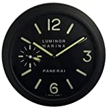 Panerai Luminous Silent Sweep Wall Clock, Black