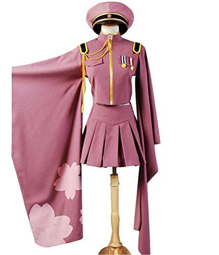 NSOKing Anime Senbonzakura Kimono Uniform Party Dress Halloween Outfit Suit (X-Large, Pink) -