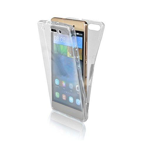 Funda Doble para Huawei P10, Vandot Bling Brillo Carcasa Protectora 360 Grados Full Body | TPU en Transparente Ultra Slim Case Cover | Protección Completa Delantera y Trasera Cocha Smartphone Móvil Ac Brillo Claro