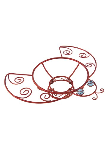 Bell Ladybug Ornaments (Russco lll GD126474 Red Plated Wire/Metal Metal Gazing Ball Stand, Ladybug)