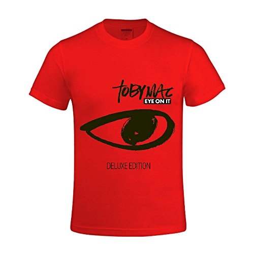 Tobymac Eye On It Men T Shirts Round Neck Personalized Red (Party City Bay Plaza)