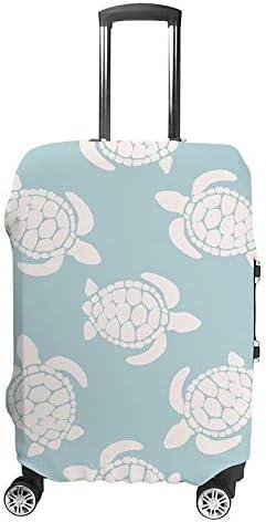 スーツケースカバー 亀柄 伸縮素材 キャリーバッグ お荷物カバ 保護 傷や汚れから守る ジッパー 水洗える 旅行 出張 S/M/L/XLサイズ