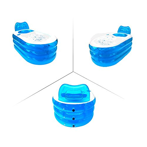 opar foldable durable adult spa inflatable bath tub with electric air pump blue buy online. Black Bedroom Furniture Sets. Home Design Ideas