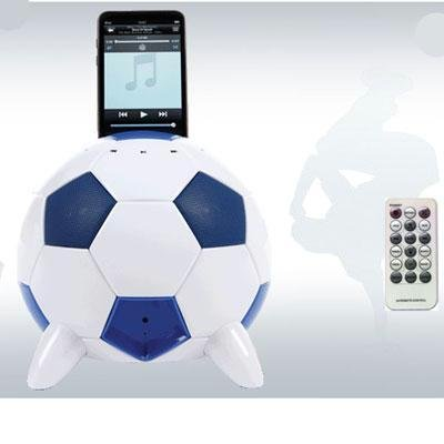 Speakal mi-Soccer 2.1 Stereo Speakers and Docking Station with 3 Speakers for iPod (Blue/White), Best Gadgets