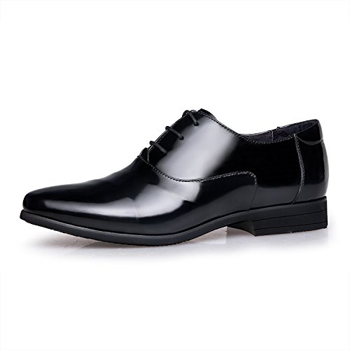 ZRO Men Modern Lace Formal Leather Oxford Dress Shoes Black b2DWK6bCTi