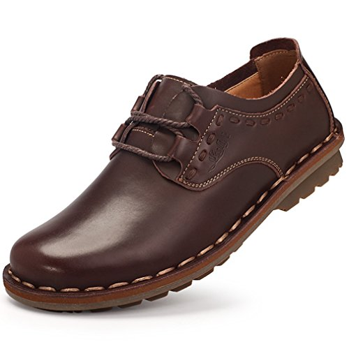 Feidaeu Zapatos Hombre Marrón Oscuro Zapatos de moda en línea Obtenga el mejor descuento de venta caliente-Descuento más grande
