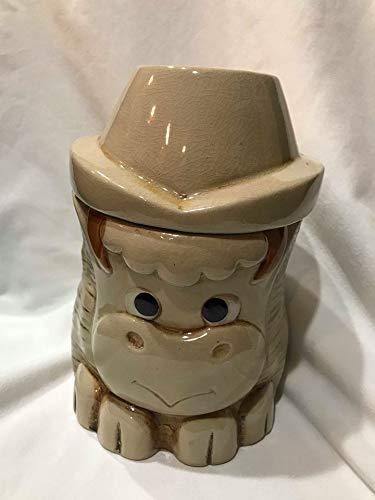 (Vintage Miniature Horse Ceramic Cookie Jar (8.5