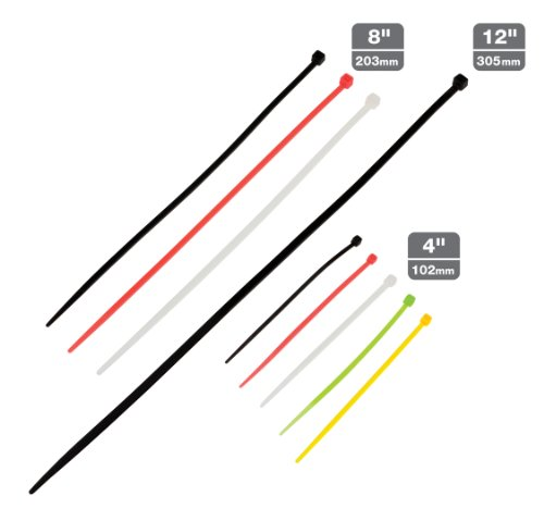 TEKTON 6235 Assorted Cable Ties, 200-Piece
