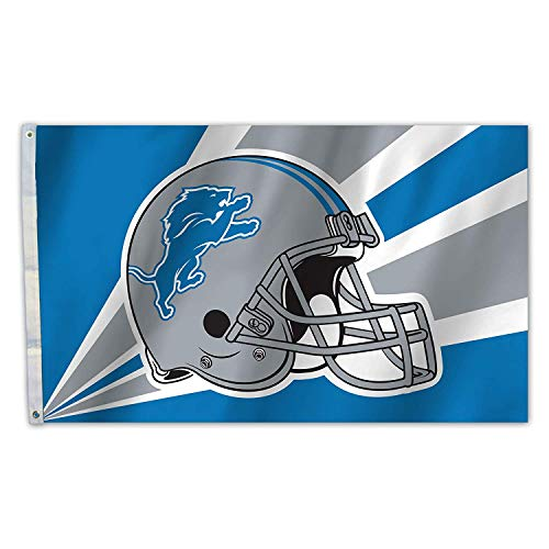 RongJ- store NFL 3-Foot by 5-Foot Banner Champion Flag (Detroit Lions) ()