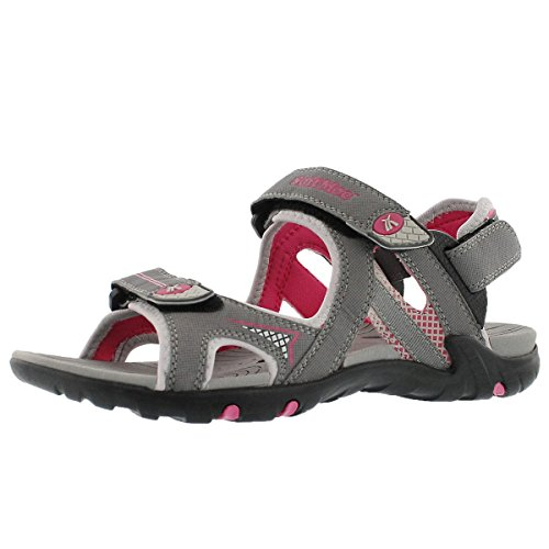Softmoc Dames Katelyn Three Strap Sport Sandaal Grijs